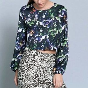 Sam & Lavi Tops - Anthropologie Sam & Lavi Floral Crop Top XS